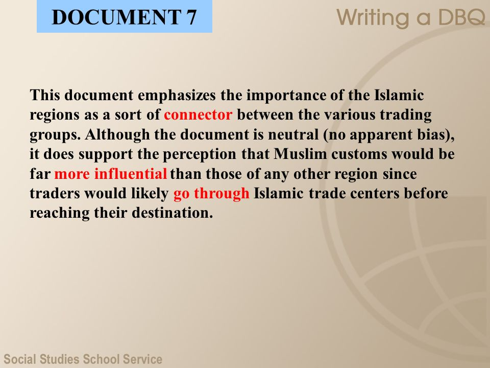 muslim cities dbq essay