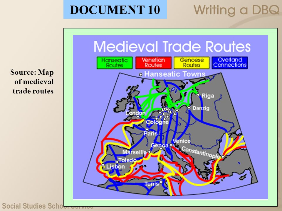 Source: Map of medieval trade routes DOCUMENT 10