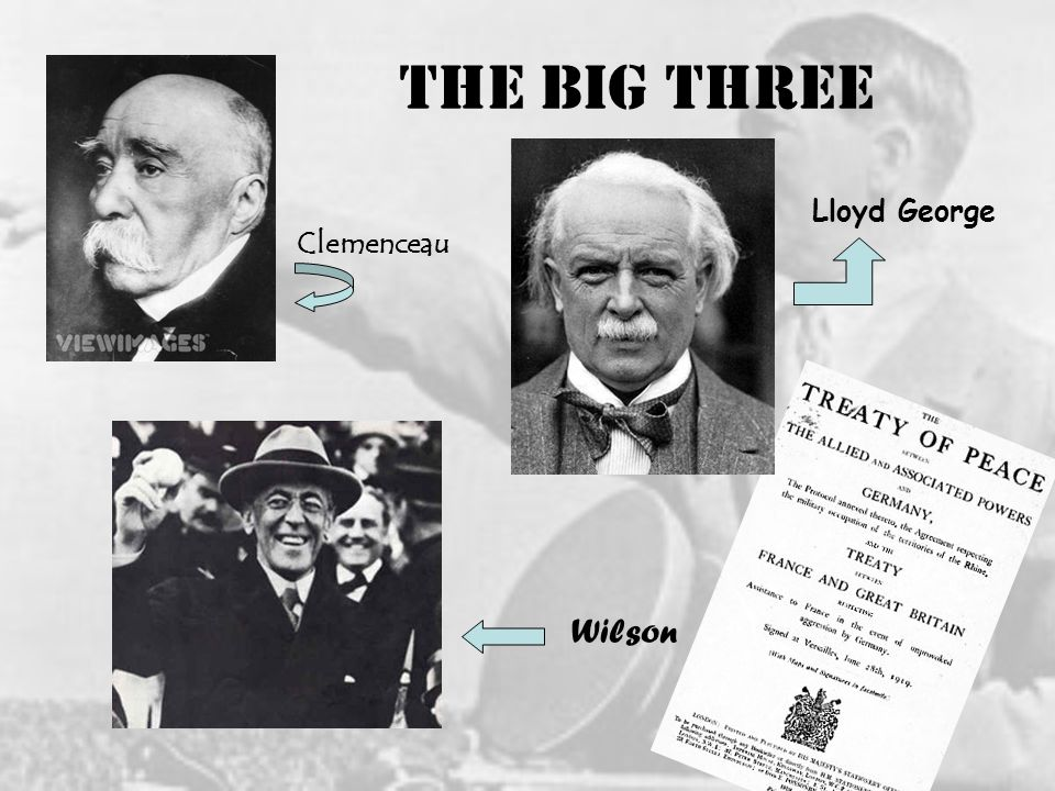 The Big Three Clemenceau Lloyd George Wilson