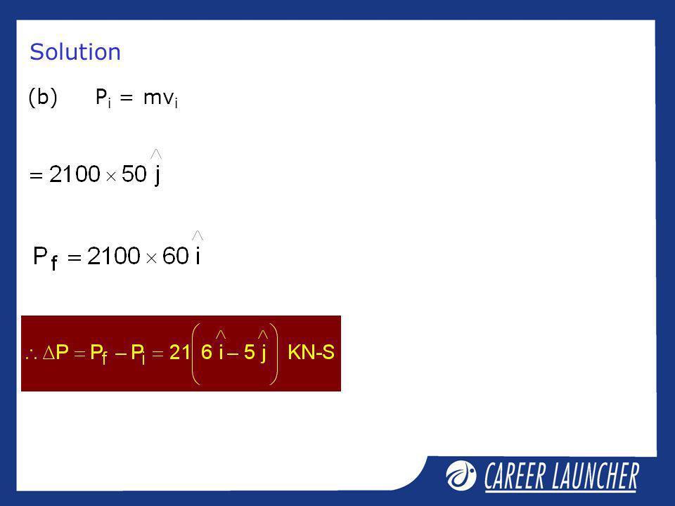 Solution (b)P i = mv i