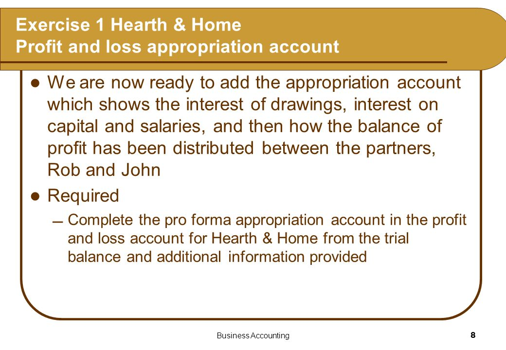 Business Accounting9 Exercise 1 Hearth & Home Trial balance at 31 December 2005