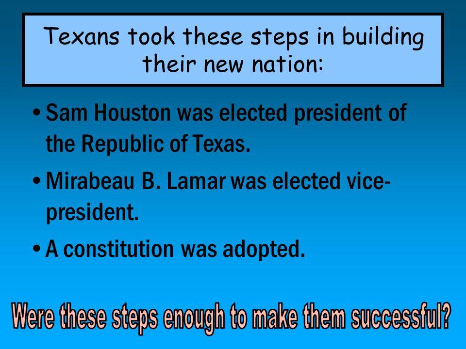 During Lamars presidency, the empresarial system returned.