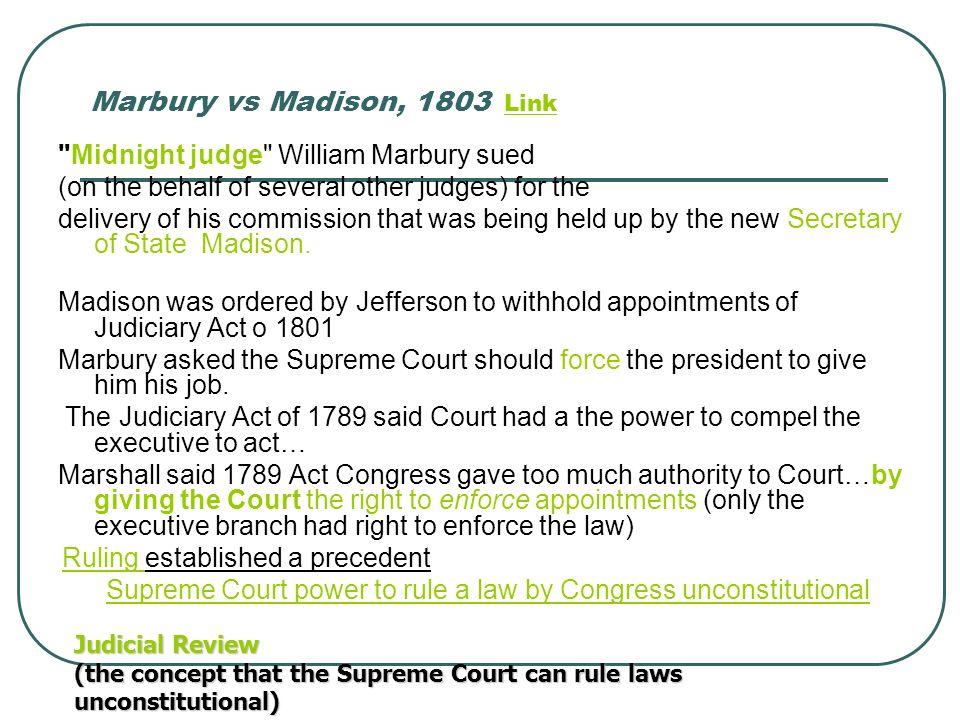 Marbury vs Madison, 1803 LinkLink