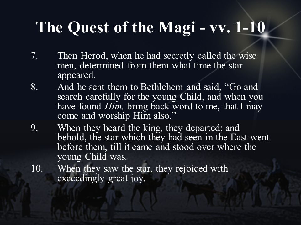 The Quest of the Magi - vv.