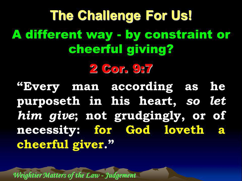 Weightier Matters of the Law - Judgement 22 sections of 8 verses = 176 verses.
