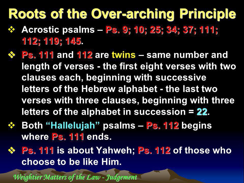 Weightier Matters of the Law - Judgement John 8 John 8 – The woman taken in adultery.