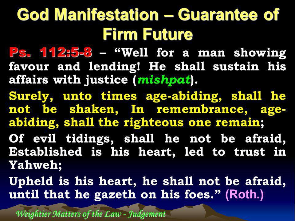 1.Yahweh hates lack of integrity – Prov.6:16-19 2.2 Cor.
