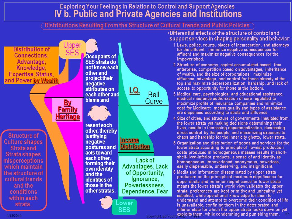 copyright, Ed Young, PhD, 11-1999 26 1/18/2014 Exploring Your Feelings in Relation to Control and Support Agencies IV b. Public and Private Agencies a