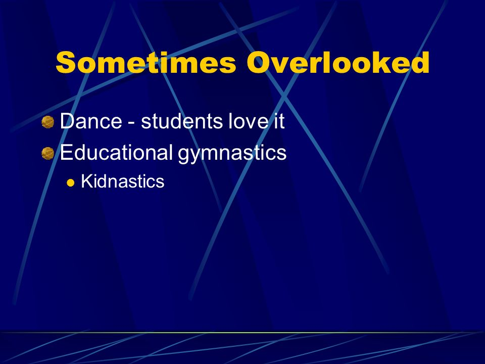 Sometimes Overlooked Dance - students love it Educational gymnastics Kidnastics