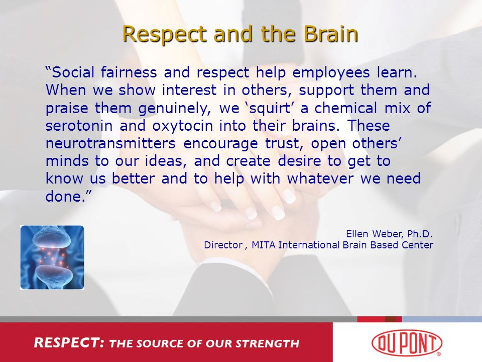 Respect and the Brain Social fairness and respect help employees learn.