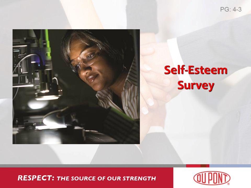 Self-Esteem Survey PG: 4-3