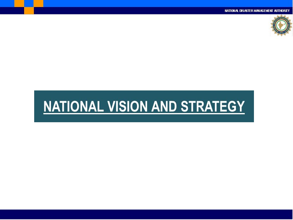NATIONAL VISION AND STRATEGY