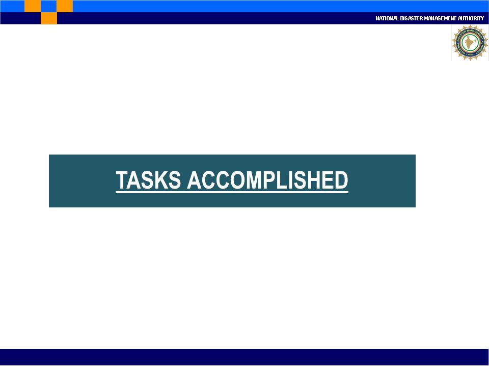 TASKS ACCOMPLISHED