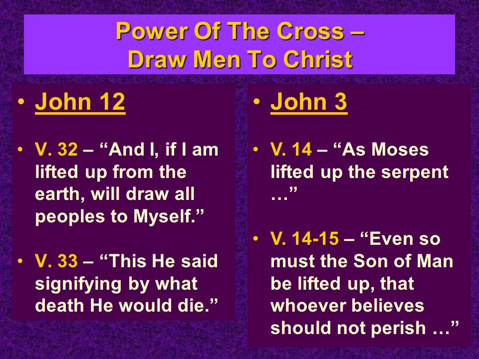 Power Of The Cross – Draw Men To Christ John 12 V.