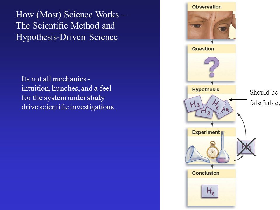 How (Most) Science Works – The Scientific Method and Hypothesis-Driven Science Its not all mechanics - intuition, hunches, and a feel for the system u