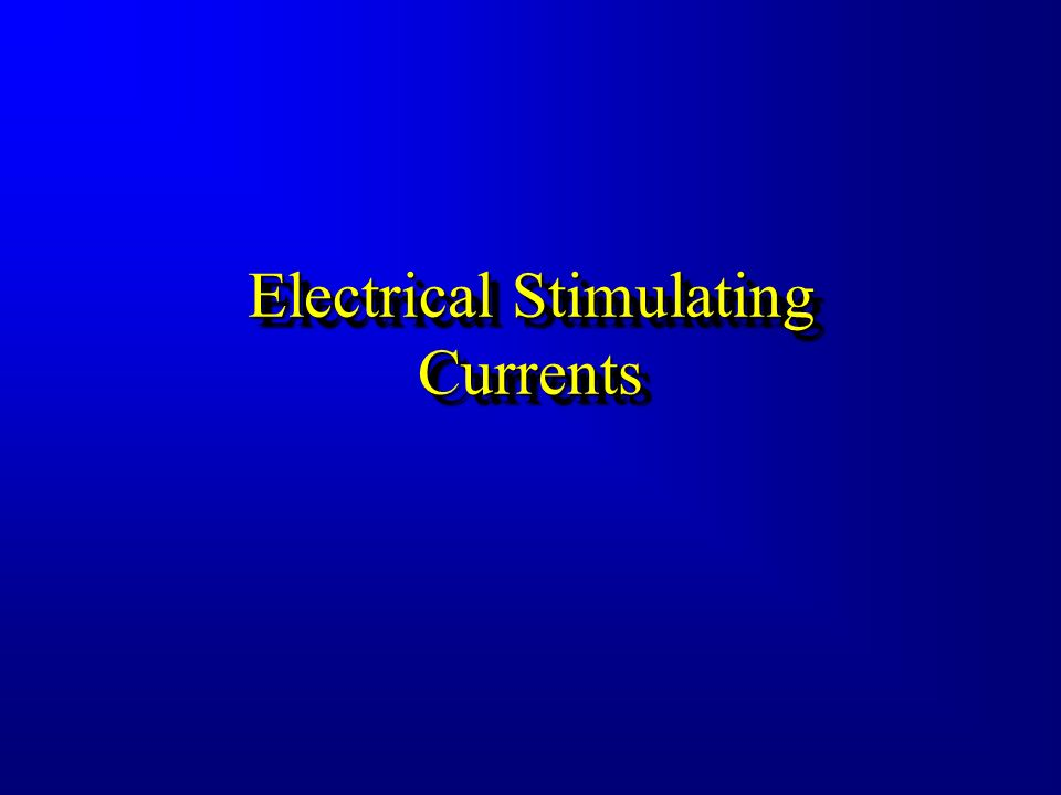 Electromagnetic Modalities Include... Electrical Stimulating Currents Shortwave And Microwave Diathermy Infrared Modalities –Thermotherapy –Cryotherap