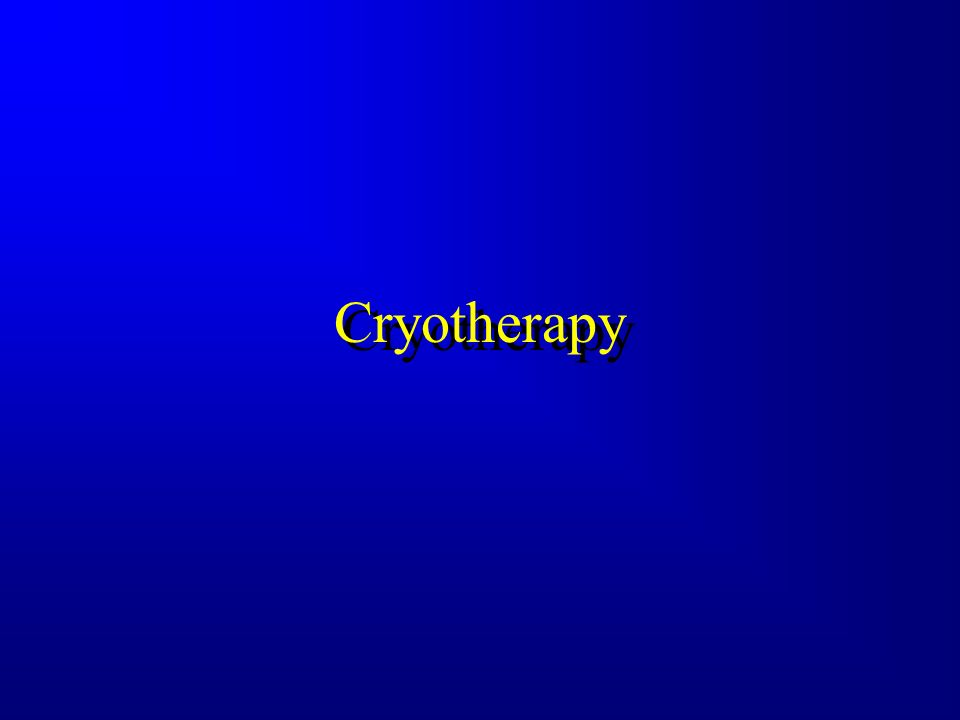 Infrared Infrared Modalities Cold = Cryotherapy Heat = Thermotherapy Cold = Cryotherapy Heat = Thermotherapy