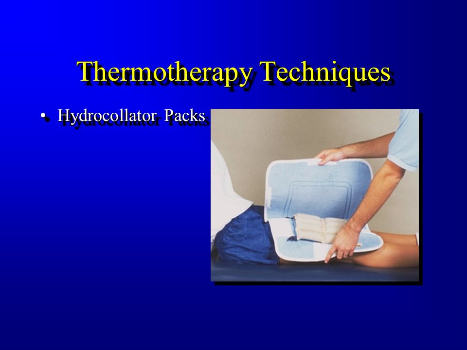What Should Thermotherapy Be Used For? To Increase Local Temperature To Increase Local Metabolism To Increase Blood Flow (Vasodilation) To Increase Ve
