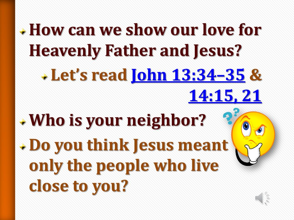 What did Jesus say we need to do to inherit eternal life? Lets read L L L L L uuuu kkkk eeee 1 1 1 1 0000 :::: 2222 7777 –––– 2222 8888Why do you thin
