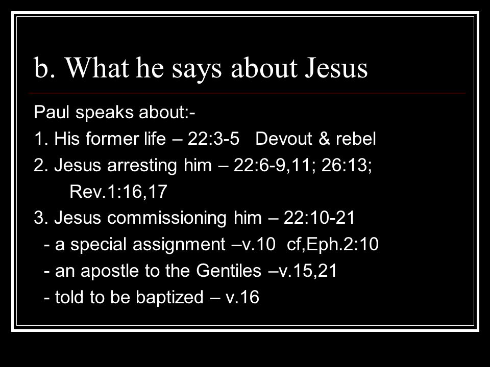 3.Are you/I a faithful witness. a. Do you know Jesus.