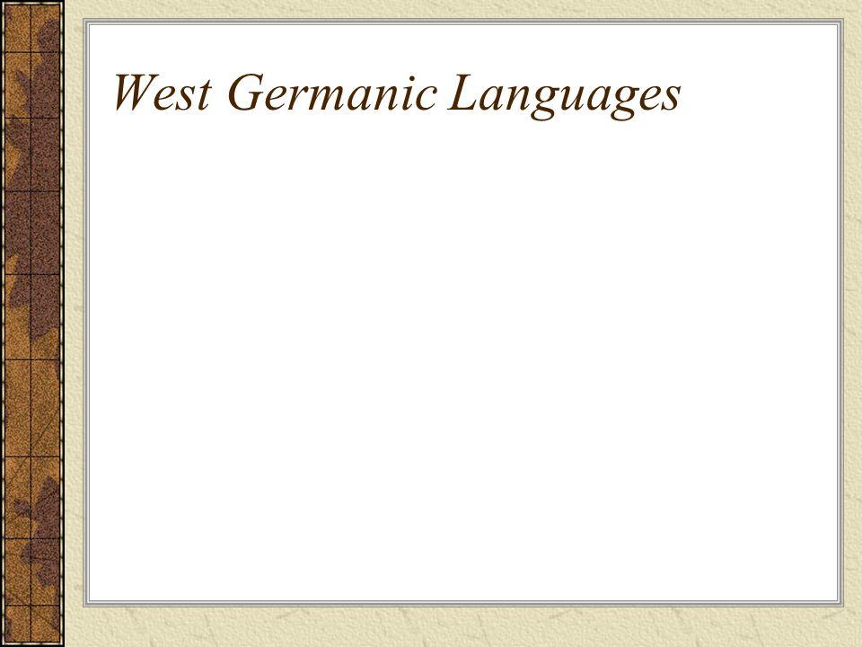 West Germanic Languages