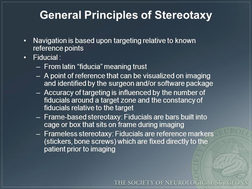 Navigation is based upon targeting relative to known reference points Fiducial : –From latin fiducia meaning trust –A point of reference that can be v