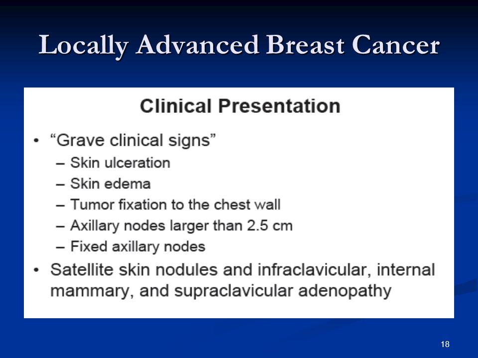 18 Locally Advanced Breast Cancer