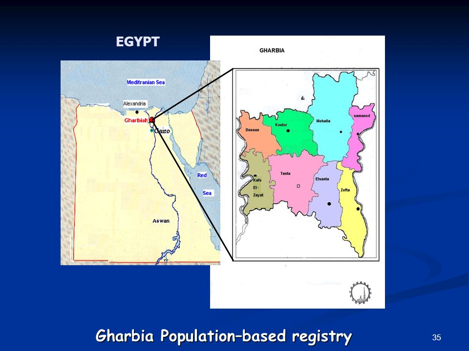 35 EGYPT Gharbia Population–based registry