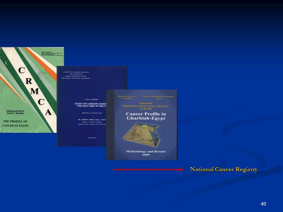 40 National Cancer Registry National Cancer Registry