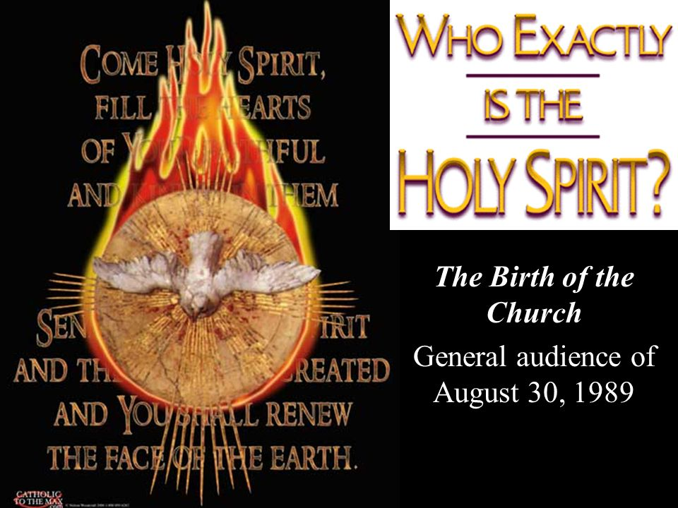 The Birth of the Church General audience of August 30, 1989