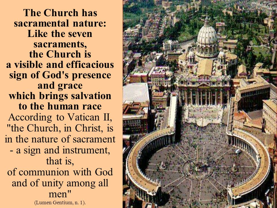 Therefore, the eternal initiative of the Father, who conceives the saving plan which was revealed to humanity and accomplished in Christ, is the foundation of the Church s mystery.