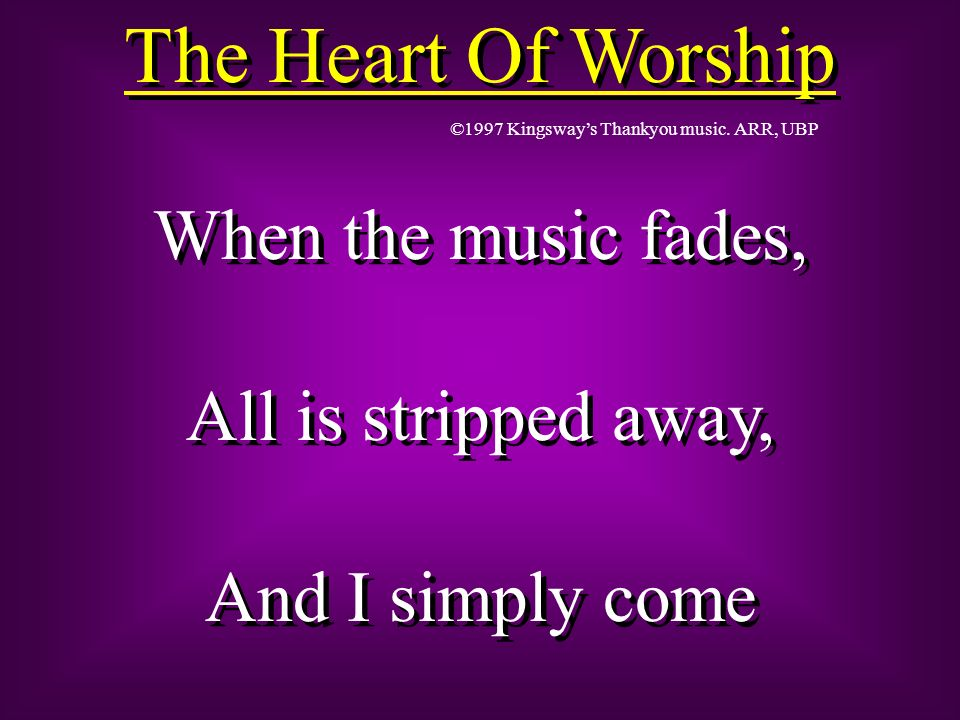 Im sorry, Lord, For the thing Ive made it, When its all about You, All about You, Jesus.