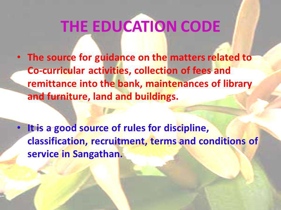 The source for guidance on the matters related to Co-curricular activities, collection of fees and remittance into the bank, maintenances of library and furniture, land and buildings.