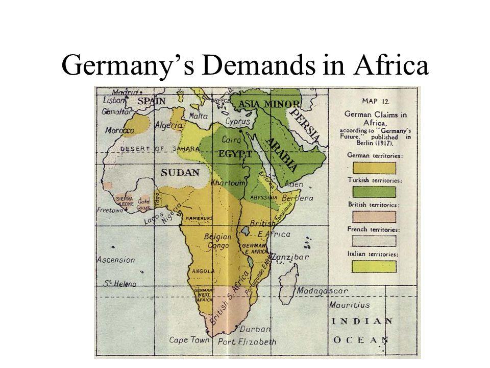 Germanys Demands in Africa