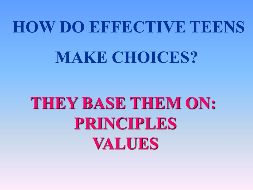 WE CANT MAKE THEIR DECISIONS FOR THEM, BUT WE CAN GIVE THEM THE RIGHT TOOLS THEY NEED TO MAKE RIGHT DECISIONS.