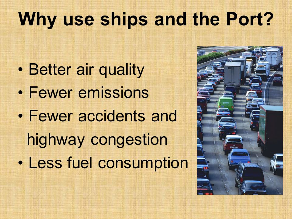 Products change Amount of materials increases Port becomes essential (very important) to Green Bay
