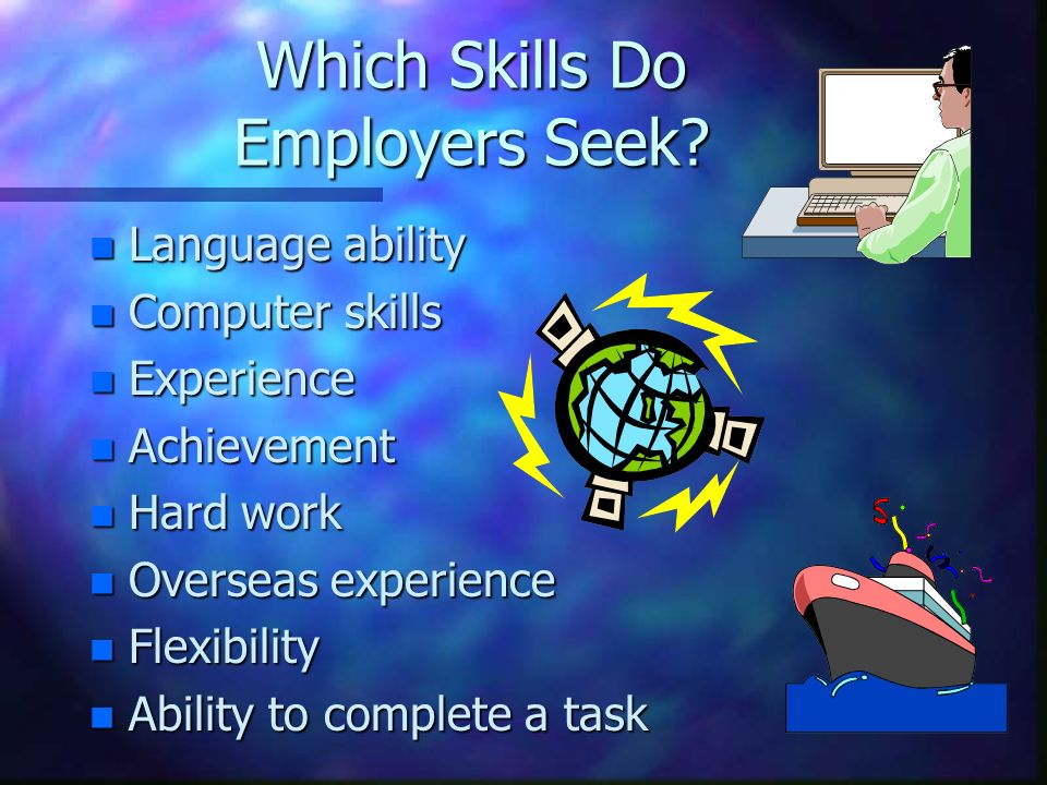 Which Skills Do Employers Seek.