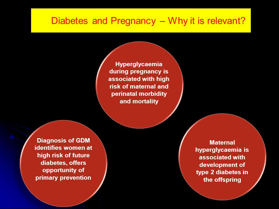 Diabetes and Pregnancy – Why it is relevant? Hyperglycaemia during pregnancy is associated with high risk of maternal and perinatal morbidity and mort