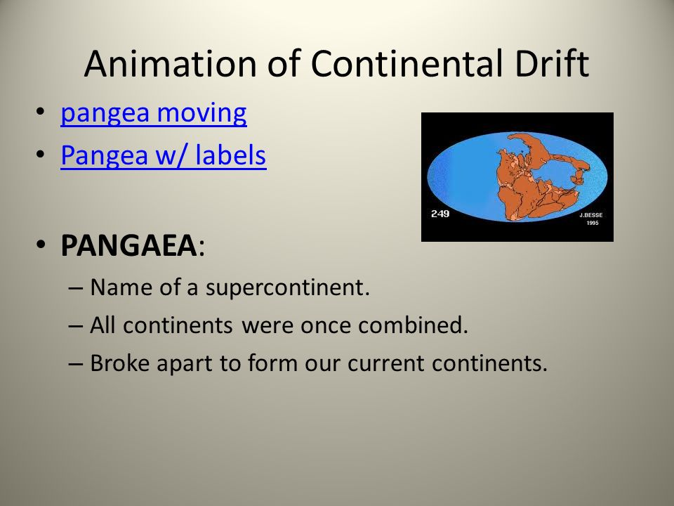 Sect 1: Continental Drift Alfred Wegener came up w/ Continental Drift Hypothesis – Continents are constantly moving (on the surface of Earth).