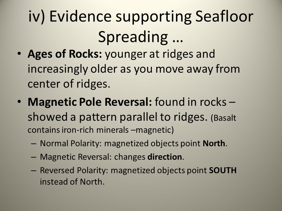 How .Studied magnetic minerals in rocks on seafloor.