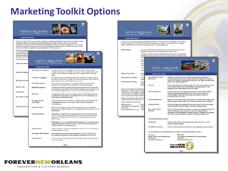 Marketing Toolkit Options