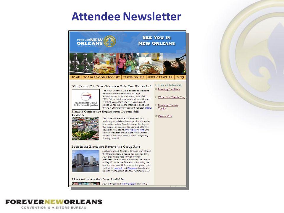 Attendee Newsletter