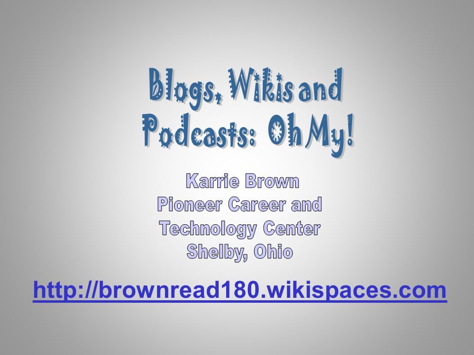 http://brownread180.wikispaces.com