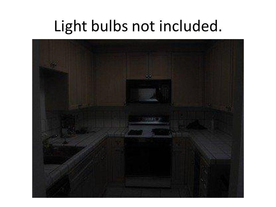 Light bulbs not included.