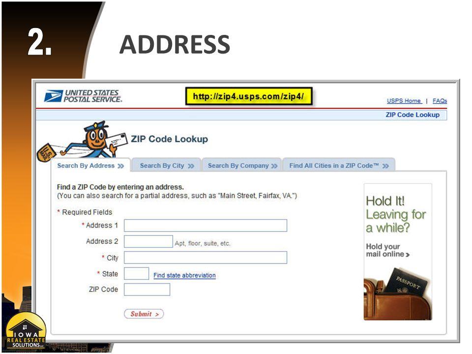ADDRESS Auto-Population Data Entry Polk - Dallas - Warren - Madison Counties Consistency & Accuracy Zip Code