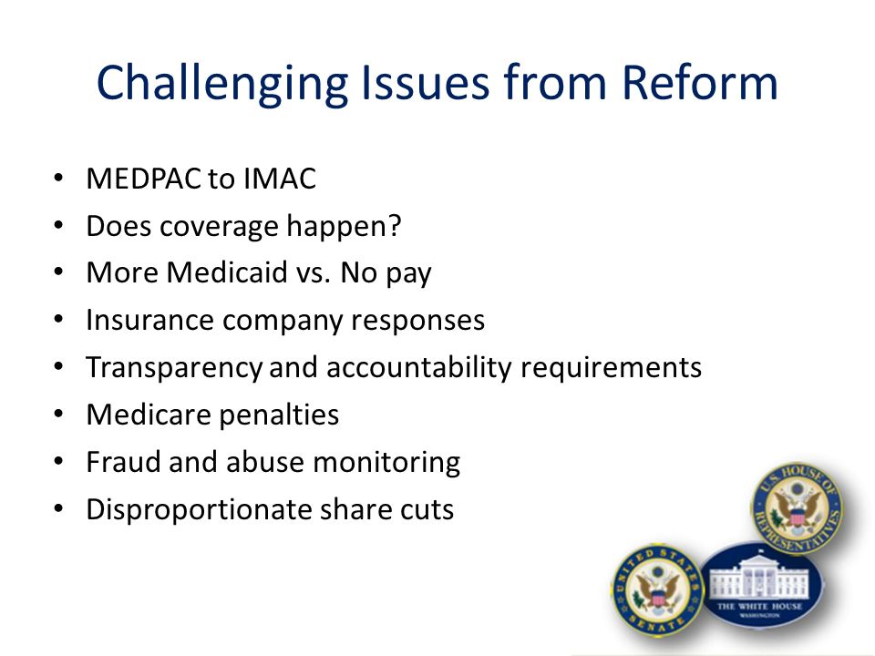 Key Drivers for Health Care Reform