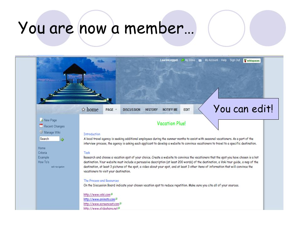 You are now a member… You can edit!