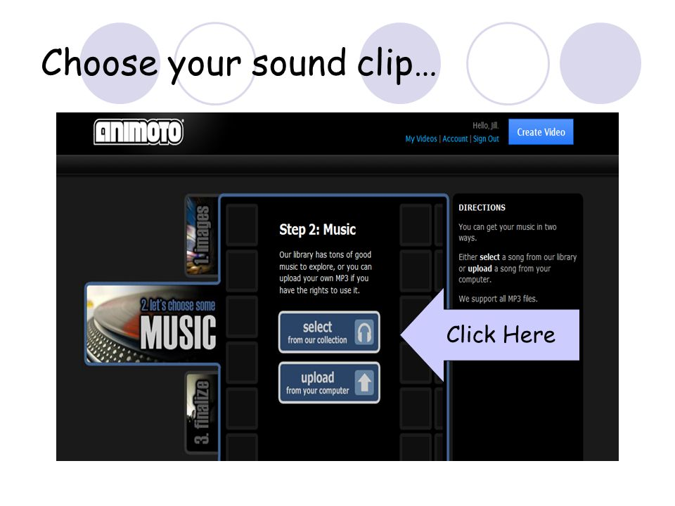 Choose your sound clip… Click Here