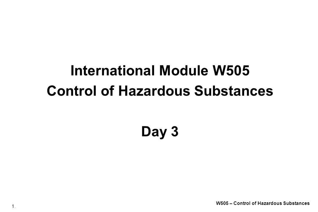 262. W505 – Control of Hazardous Substances LEV During Bag Filling Reproduced with permission