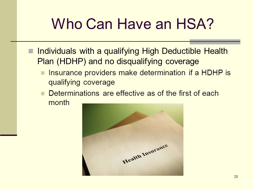 20 Who Can Have an HSA.
